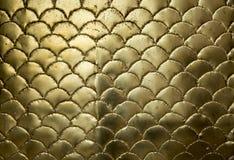 Gouden metaal golvende oppervlakte Royalty-vrije Stock Afbeeldingen