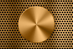Gouden metaalachtergrond royalty-vrije stock foto's