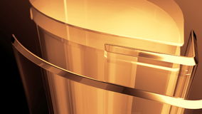 Gouden metaalcilinder royalty-vrije illustratie