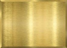 Gouden metaalplaque Stock Foto's