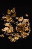 Gouden metaalproducten Stock Fotografie