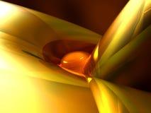 Gouden metaalsamenvatting stock illustratie
