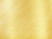 Gouden Metaaltextuur met Bezinningsstrepen Royalty-vrije Stock Foto's