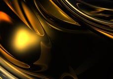 Gouden metall in de duisternis Royalty-vrije Stock Foto's
