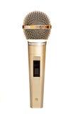 Gouden microfoon stock foto's