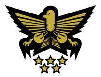 Gouden militair embleem Stock Afbeelding