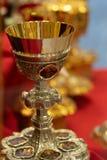 Gouden miskelken of drinkbekers royalty-vrije stock foto