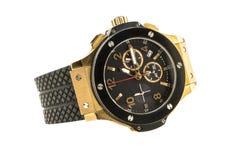Gouden modern geïsoleerd horloge Royalty-vrije Stock Foto