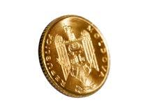 Gouden modern muntstuk Stock Afbeeldingen