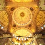 Gouden moskee - binnenland (Yeni Camii) royalty-vrije stock foto