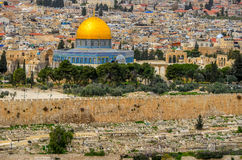 Gouden moskee in Jeruzalem, Israël Stock Foto's