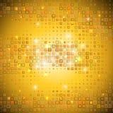 Gouden mozaïek Vector Illustratie