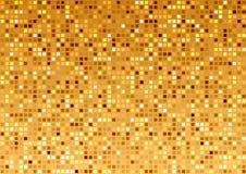 Gouden mozaïektextuur Stock Foto