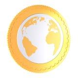 Gouden muntstuk Vector Illustratie