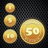 Gouden muntstuk Stock Fotografie