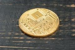 Gouden muntstuk bitcoin Royalty-vrije Stock Afbeeldingen