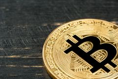 Gouden muntstuk bitcoin Stock Foto's