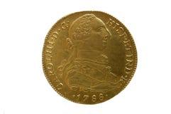 Gouden muntstuk, Spaans gouden muntstuk, Royalty-vrije Stock Foto's