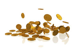 Gouden muntstukken Royalty-vrije Illustratie