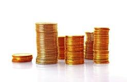 Gouden muntstukken Royalty-vrije Stock Afbeeldingen