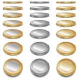 Gouden muntstukken Royalty-vrije Stock Afbeelding