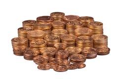 Gouden muntstukken Royalty-vrije Stock Fotografie