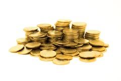 Gouden muntstukken Stock Foto's
