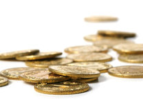 Gouden muntstukken Stock Foto