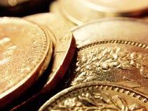 Gouden muntstukken van schat Stock Foto's