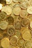 Gouden muntstukstapel Stock Foto