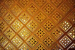 Gouden muur Stock Afbeeldingen