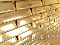 Gouden muur Royalty-vrije Stock Foto