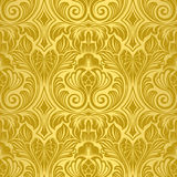 Gouden naadloos behang Royalty-vrije Stock Foto