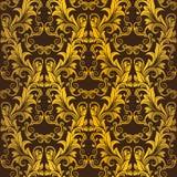 Gouden naadloos behang Vector Illustratie