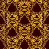 Gouden naadloos behang Stock Illustratie