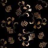 Gouden naadloos patroon Stock Fotografie