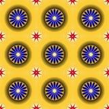 Gouden naadloos patroon Royalty-vrije Stock Afbeeldingen