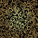 Gouden naadloos patroon Stock Foto's
