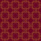 Gouden naadloos patroon Royalty-vrije Stock Afbeelding