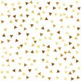 Gouden naadloos patroon met driehoeken Stock Afbeeldingen