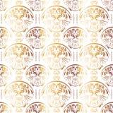 Gouden Naadloos Uitstekend Patroon Stock Afbeeldingen