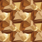 Gouden naadloos veelhoekig patroon Royalty-vrije Stock Afbeeldingen