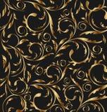 Gouden naadloze bloemenachtergrond Royalty-vrije Stock Afbeelding