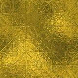Gouden Naadloze Folie en Tileable-luxe achtergrondtextuur Schitterende vakantie gerimpelde gouden achtergrond Stock Foto's