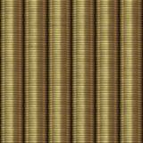 Gouden naadloze muntstukkenachtergrond Stock Afbeelding