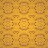 Gouden Naadloze Uitstekende Achtergrond Stock Afbeelding