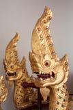 Gouden Nagas Royalty-vrije Stock Afbeeldingen