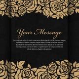 Gouden nam bloem op abstract zwart vectorontwerp als achtergrond toe vector illustratie