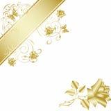 Gouden nam op witte achtergrond toe Stock Foto's