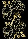Gouden nam op zwarte toe Royalty-vrije Stock Foto's